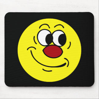Stupid Smiley Face Grumpey Mouse Pad