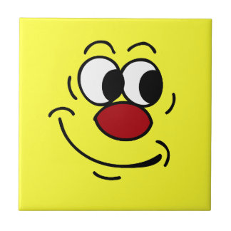 Stupid Smiley Face Grumpey Tile