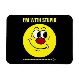 Stupid Smiley Face Grumpey Vinyl Magnets