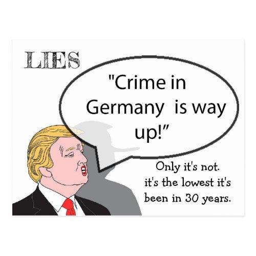 Stupid Things Trump has said Postcard Souvenir