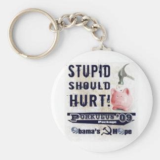 StupidHurts Keychain