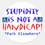 Stupidity Classic Round Sticker