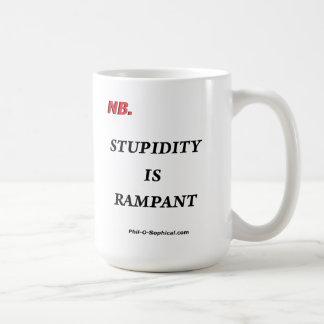 Stupidity is Rampant (Mug) Classic White Coffee Mug