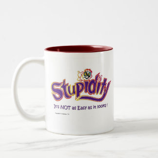 Stupidity...It's NOT as easy as it looks! Two-Tone Coffee Mug