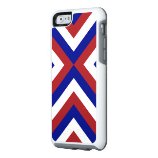 Sturdy Red, White, and Blue Chevrons OtterBox iPhone 6/6s Case