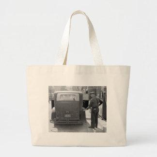 Sturgeon Bay Gas Station, 1940 Jumbo Tote Bag
