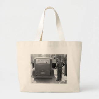Sturgeon Bay Gas Station, 1940 Large Tote Bag