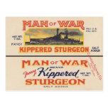 Sturgeon Can Label Postcard