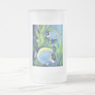 Sturgeon Fish Frosted Glass Beer Mug