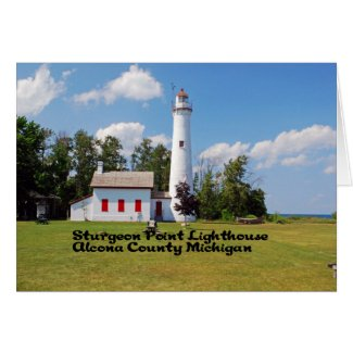 Sturgeon Point Light House Card
