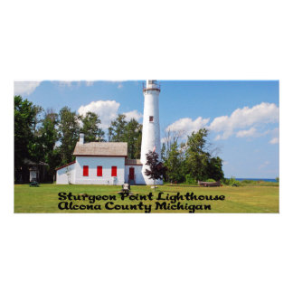 Sturgeon Point Light House Michigan Card