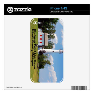 Sturgeon Point Light House Michigan Decals For The iPhone 4S