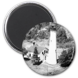 Sturgeon Point Lighthouse 2 Inch Round Magnet