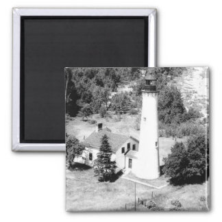 Sturgeon Point Lighthouse 2 Inch Square Magnet