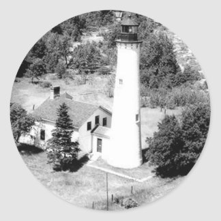 Sturgeon Point Lighthouse Classic Round Sticker