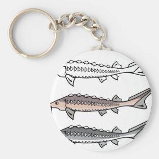 Sturgeon rare fish keychain