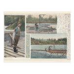 Sturgeon Salmon Wheel Postcard