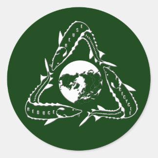Sturgeon Sticker - Recycle white