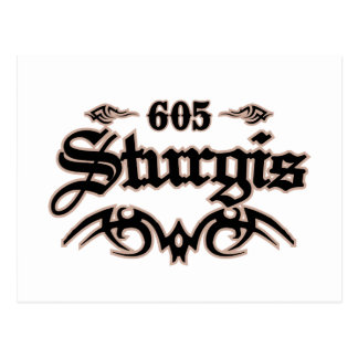 Sturgis 605 post card