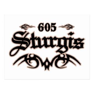 Sturgis 605 postcard