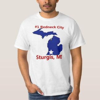 Sturgis Ranked #1 Redneck City in MI Mens t shirt