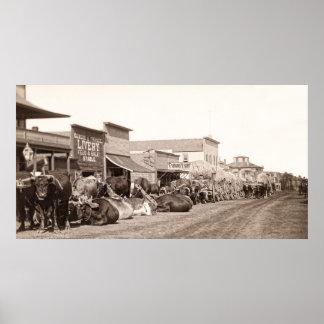 Sturgis South Dakota around 1890 Poster