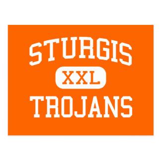 Sturgis - Trojans - High School - Sturgis Michigan Postcard