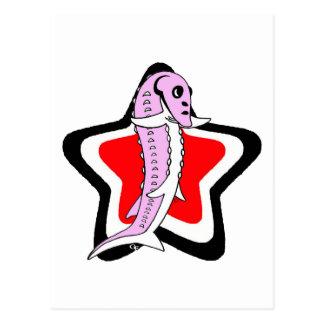 Sturgy-Star-Pink-BlackWhiteRed Post Card