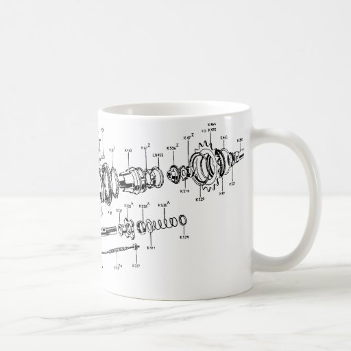 Sturmey-Archer Three-speed Mug (no parts list)