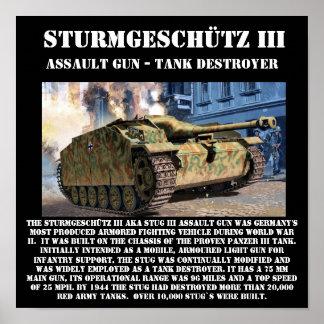 Sturmgeschütz III Tank Destroyer 12 x 12 Print