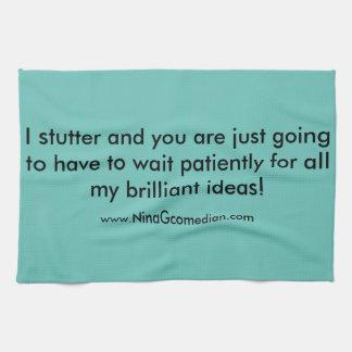 Stuttering kitchen towel