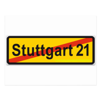 Stuttgart 21 post card