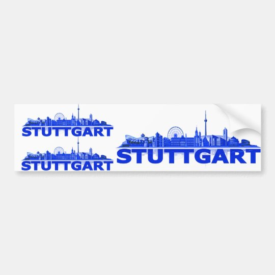Stuttgart city of skyline - autosticker /Aufkleber Bumper Sticker