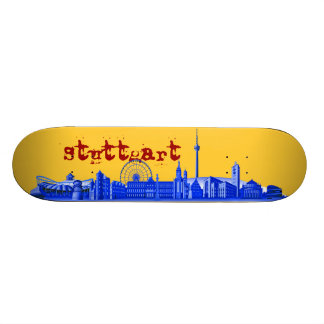 Stuttgart city of skyline - other gift ideas skateboard deck
