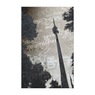 Stuttgart TV tower kind poster Canvas Print
