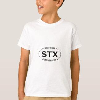 STX - Saint Croix Virgin Islands Euro Style Oval T-Shirt