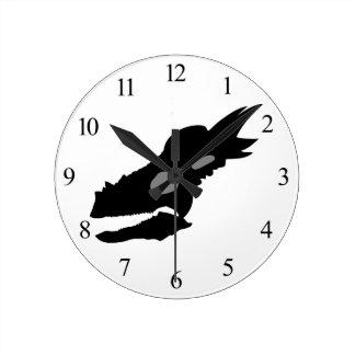 Stygimoloch Skull Round Clock