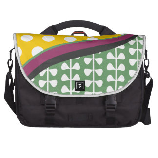 Styish Leaves and Polka Dots Pattern Bag For Laptop