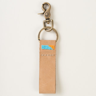 Style: 100% Leather Keychain HANDMADE