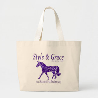 Style and Grace Missouri Fox Trotter Thing Large Tote Bag