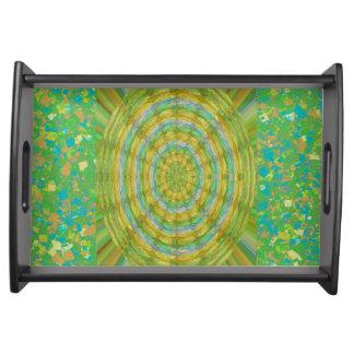 Style ART Collection NavinJoshi GREEN Texture Food Trays