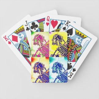 Style Art Skeleton Bicycle Playing Cards