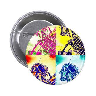 Style Art Skeleton Pinback Button