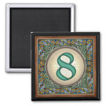 """Style B, """"8"""" - Celtic Number Magnets"""