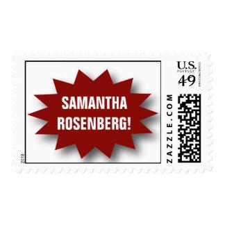 Style! Bat Mitzvah Magazine Stamp in Red, Medium