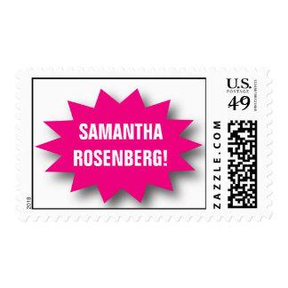 Style! Bat Mitzvah Magazine Stamp, Medium Stamp