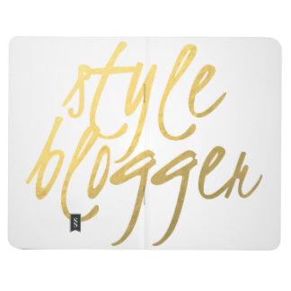 Style Blogger - Gold Script Pocket Journal