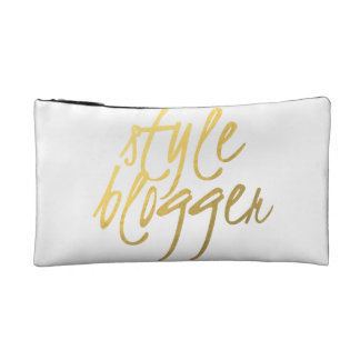 Style Blogger - Gold Script Small Cosmetic Bag