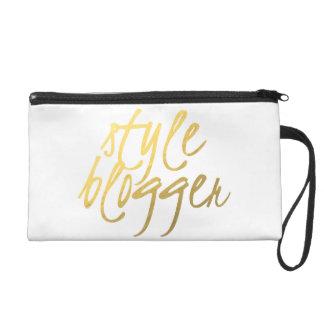 Style Blogger - Gold Script Wristlet