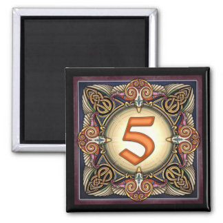 """Style C, """"5"""" - Celtic Number Magnets"""